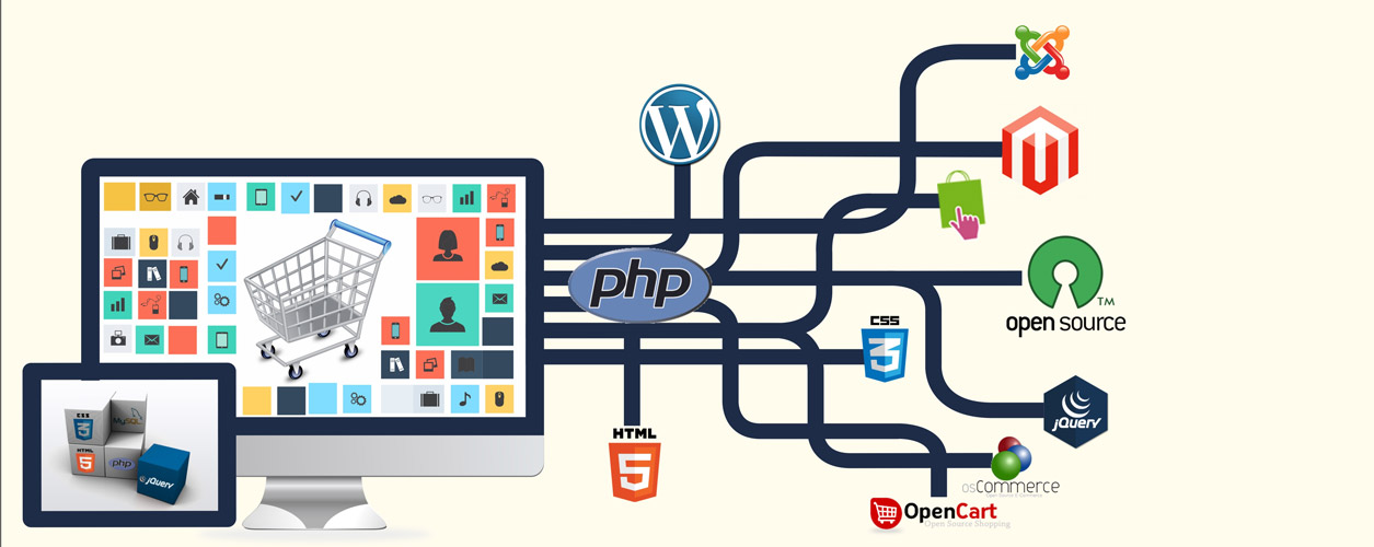 Ecommerce website development unique design and convenient structure
